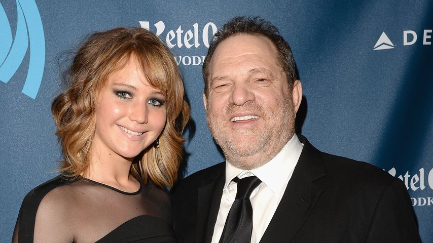 Jennifer Lawrence und Harvey Weinstein bei den GLAAD Media Awards