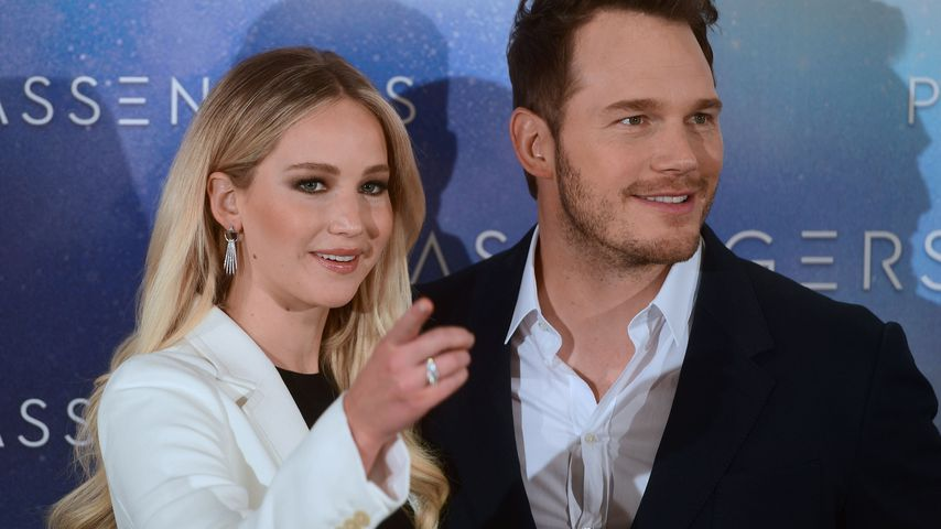 Jennifer Lawrence und Chris Pratt in Madrid