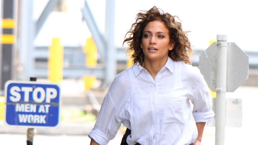 """Jennifer Lopez am Set von """"Shades of Blue"""""""