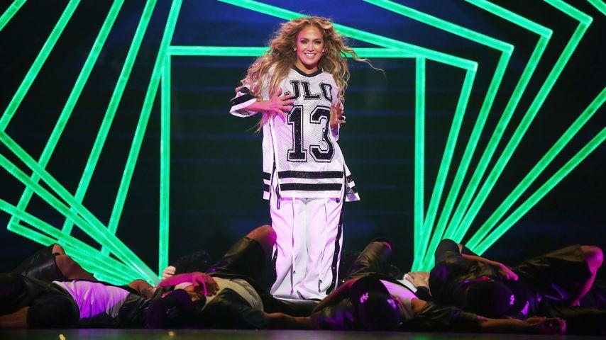 Jennifer Lopez auf einem Pre-Super-Bowl-Konzert in Minneapolis im Februar 2018