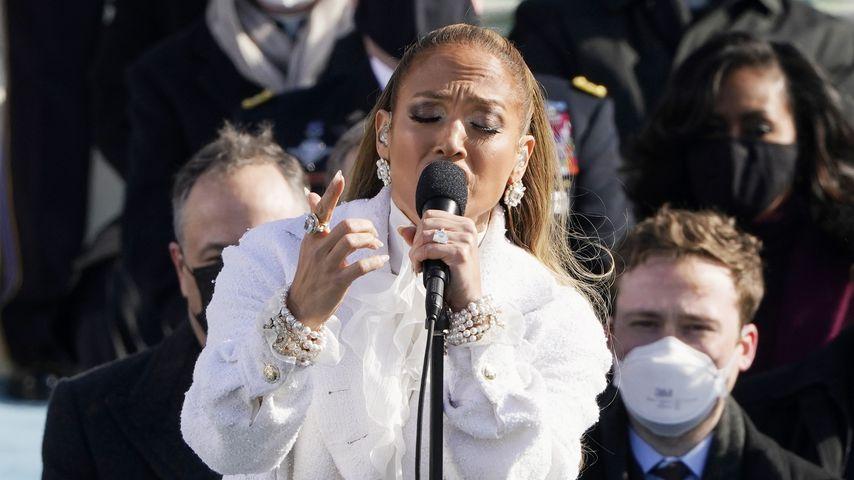 Jennifer Lopez bei der Vereidigungszeremonie von US-Präsident Joe Biden, 2021