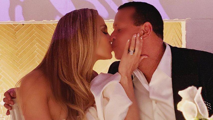 Jennifer Lopez und Alex Rodriguez bei der Verlobungsfeier im September 2019