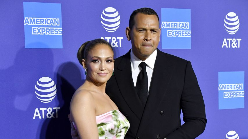 Jennifer Lopez und Alex Rodriguez im Januar 2020 in Palm Springs