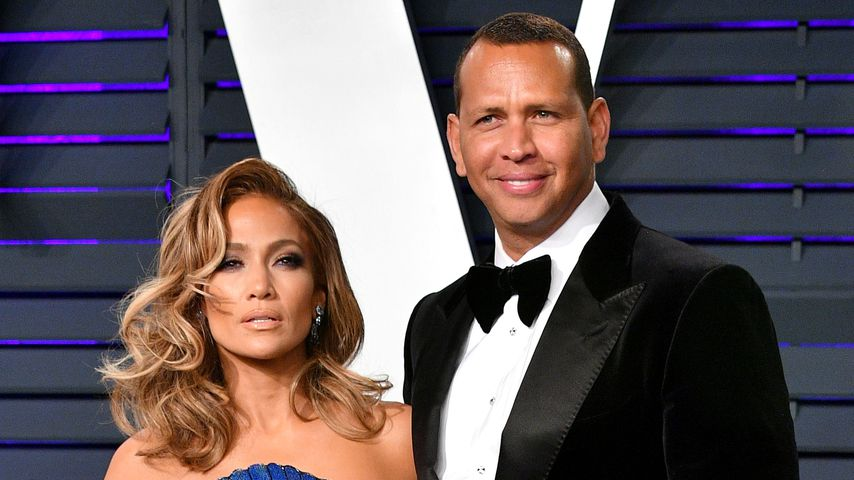 Jennifer Lopez und Alex Rodriguez  bei der Vanity Fair Oscar-Party 2019