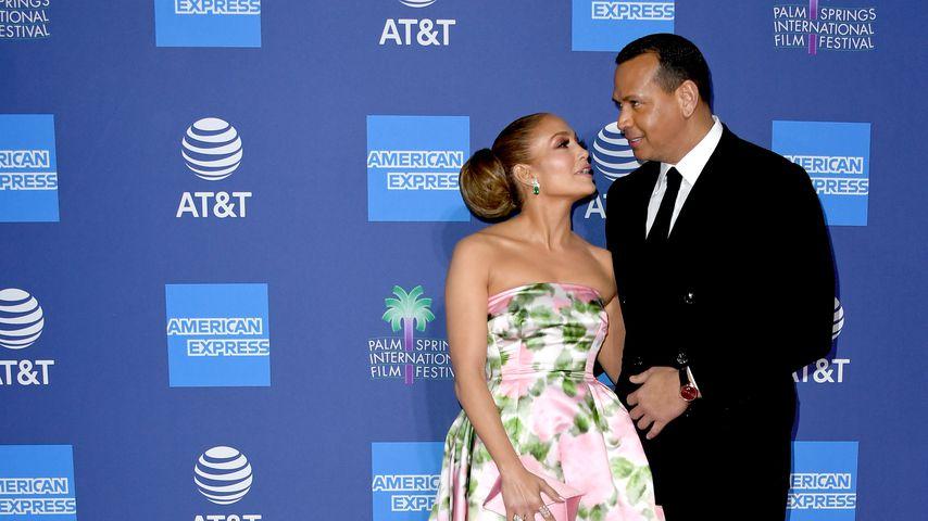 Jennifer Lopez und Alex Rodriguez im Januar 2020 in Palm Springs