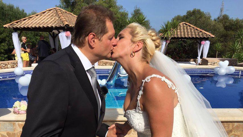 Jens Büchner und Daniela Karabas bei ihrer Hochzeit