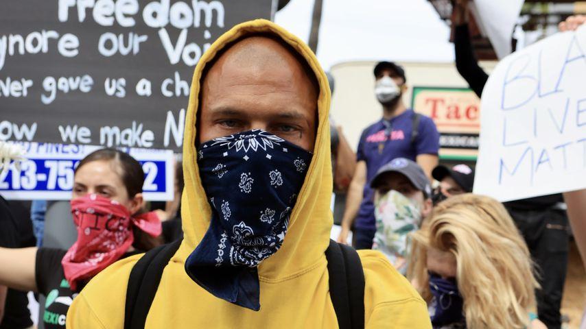 Jeremy Meeks beim Protest für George Floyd