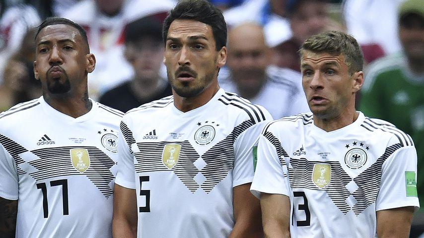 Jérôme Boateng, Mats Hummels und Thomas Müller bei der WM 2018