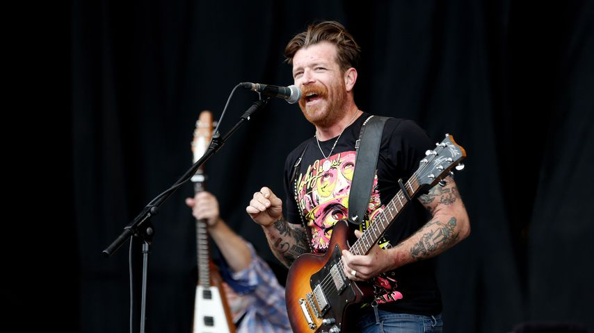 Jesse Hughes von Eagles of Death Metal beim Reading Festival 2012