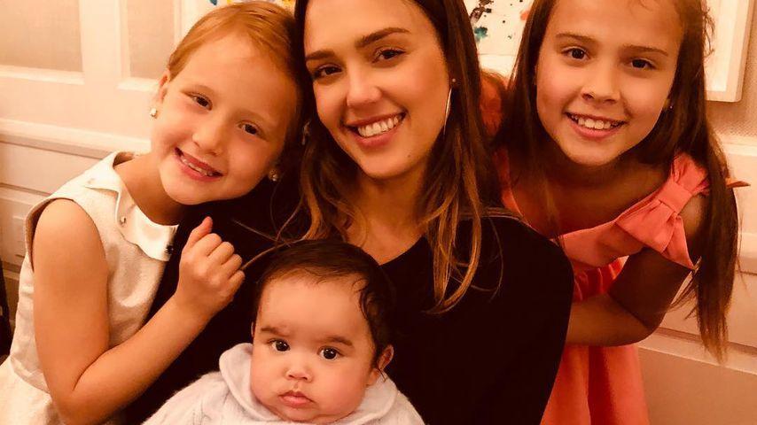Jessica Alba mit ihren Kids Haven, Hayes und Honor