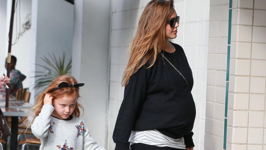 Hochschwangere Jessica Alba: Letzter Mama-Tochter-Ausflug?