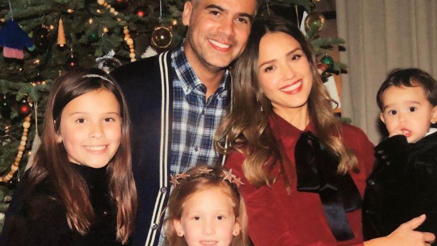 Jessica Alba und Cash Warren mit ihren Kindern
