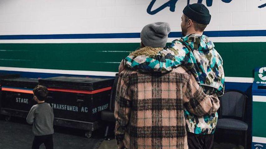 Jessica Biel, Justin Timberlake und ihr Sohn Silas