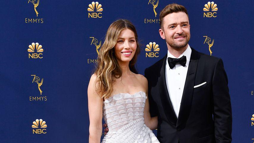 Jessica Biel und Justin Timberlake bei den Emmys 2018