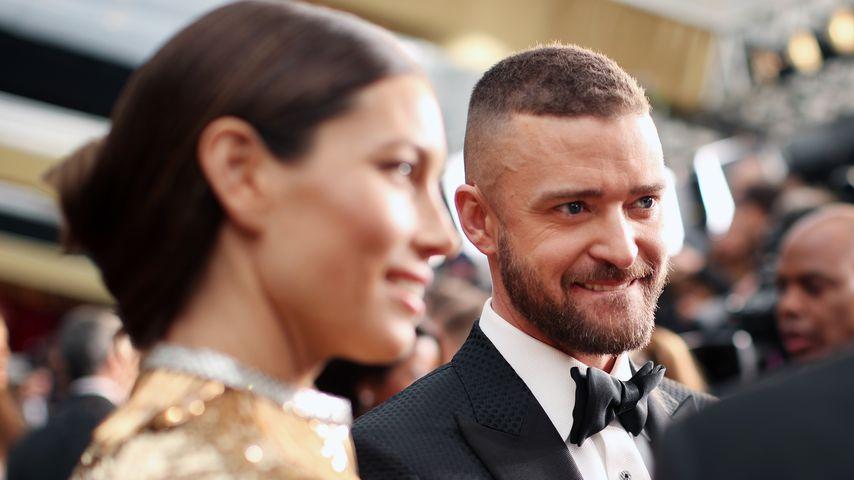 Jessica Biel und Justin Timberlake bei der Oscar-Verleihung 2017