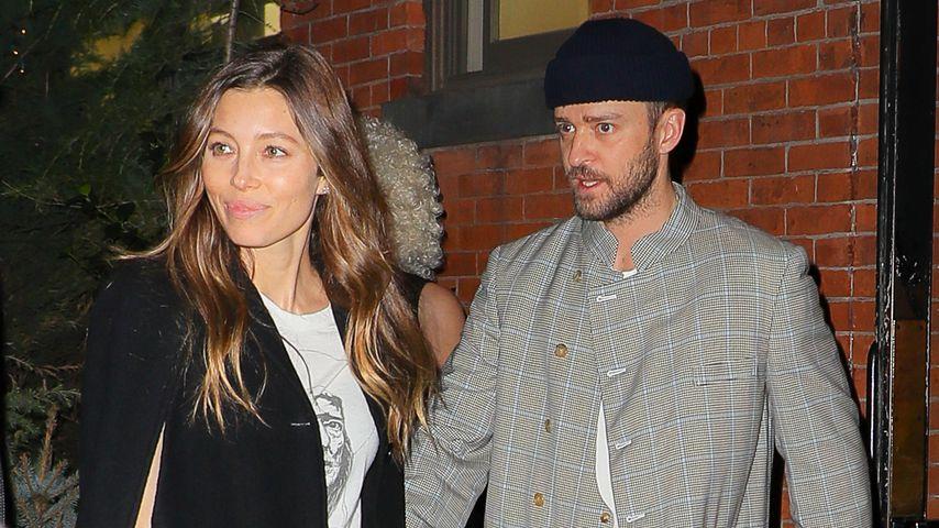 Jessica Biel und Justin Timberlake, April 2019