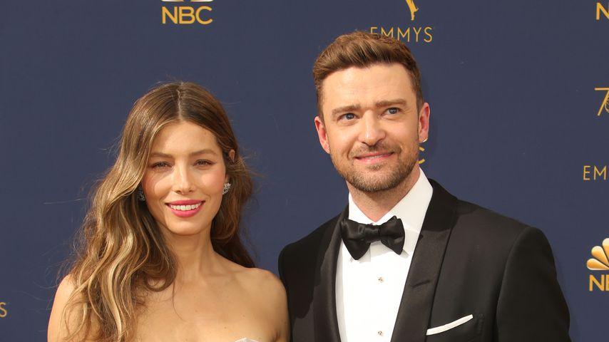 Jessica Biel und Justin Timberlake  bei den Emmy Awards 2018