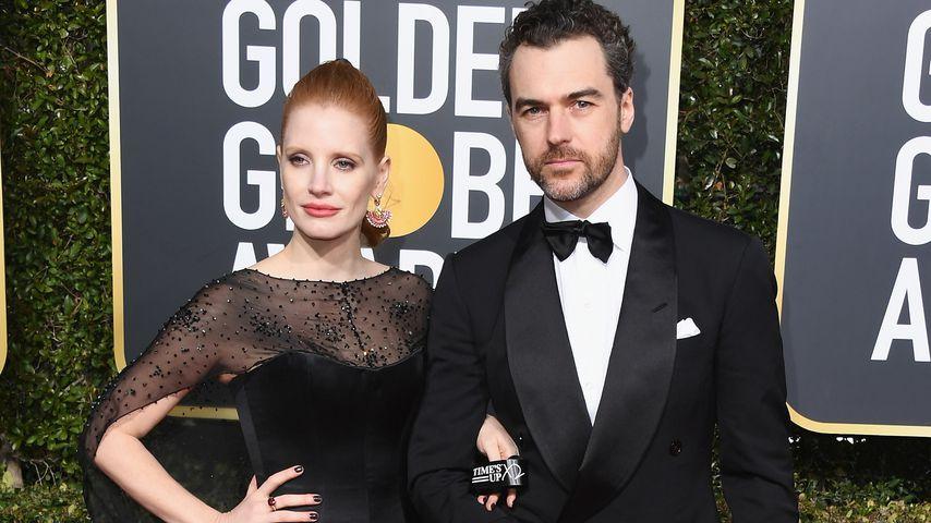 Jessica Chastain und Gian Luca Passi de Preposulo bei den Golden Globes 2019