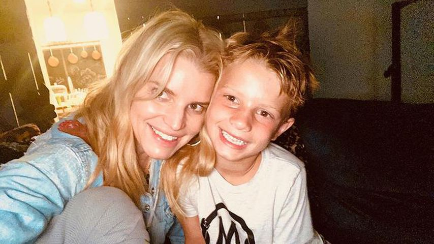 Jessica Simpson mit ihrem Sohn Ace Knute