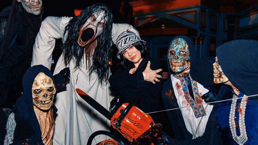Sängerin Jessie J bei den Universal Studios Halloween Horror Nights, Oktober 2019