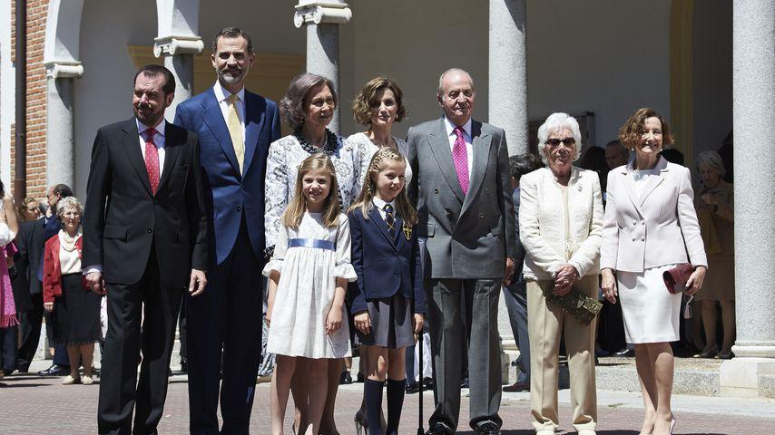 Die spanischen Royals in Madrid im Mai 2015