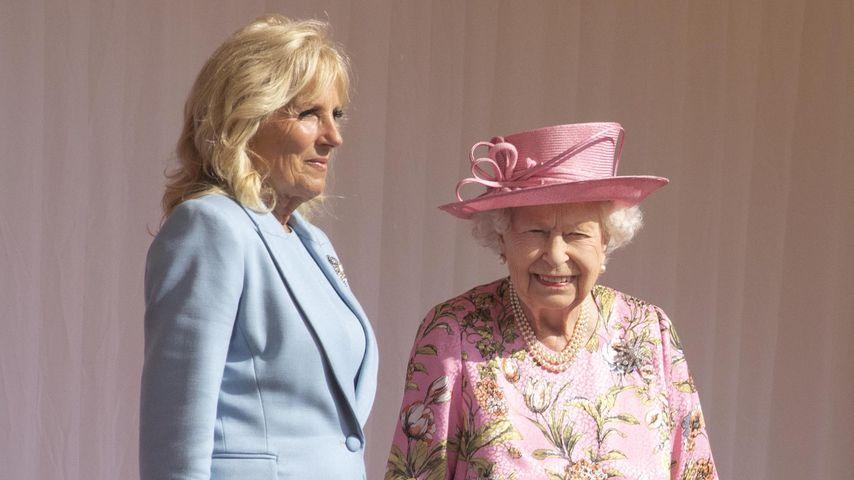 Jill Biden und Queen Elizabeth II. im Juni 2021