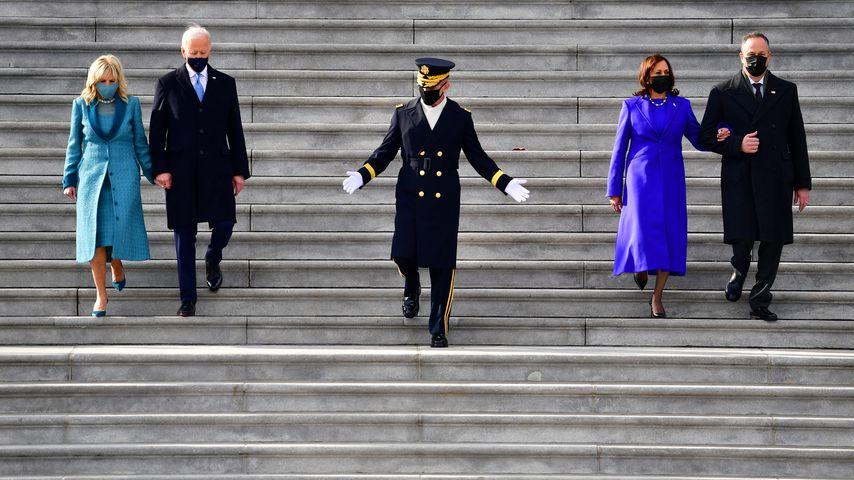 Jill und Joe Biden und Kamala Harris und Douglas Emhoff in Washington D.C. im Januar 2021