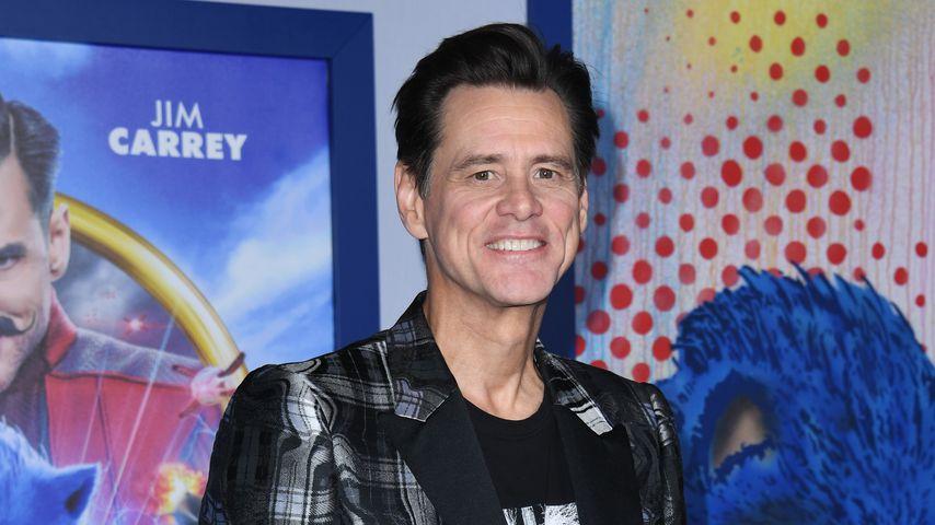 """Jim Carrey bei der Premiere von """"Sonic The Hedgehog"""" im Februar 2020"""