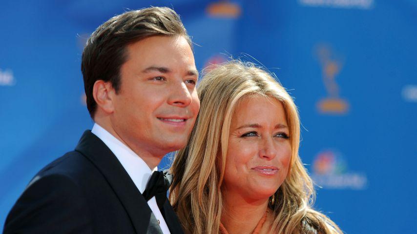 Jimmy Fallon und seine Frau Nancy im August 2010