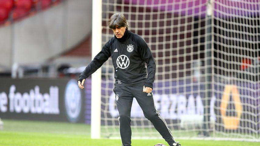 Joachim Löw vor einem Länderspiel im März 2019
