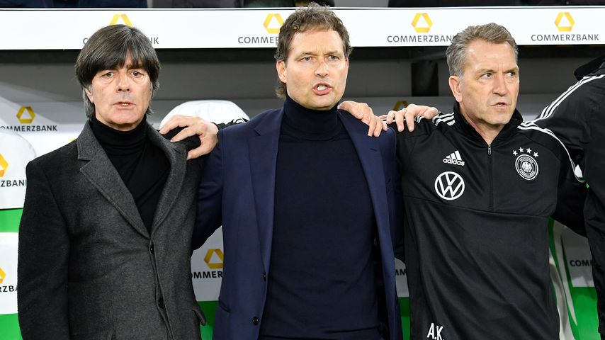Joachim Löw, Marcus Sorg und Andreas Köpke