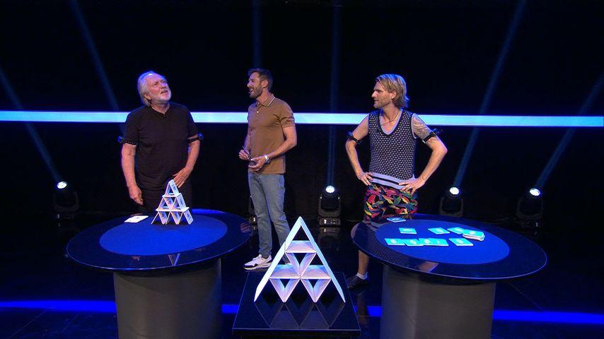 """Joachim Witt, Jochen Schropp und Robin Bade in einer Szene von """"Promi Big Brother"""""""