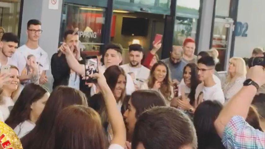Joana Kesencis Fans vor dem DSDS-Finale 2019