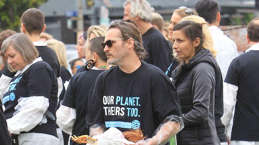 Joaquin Phoenix bei einer Demo, Juni 2019