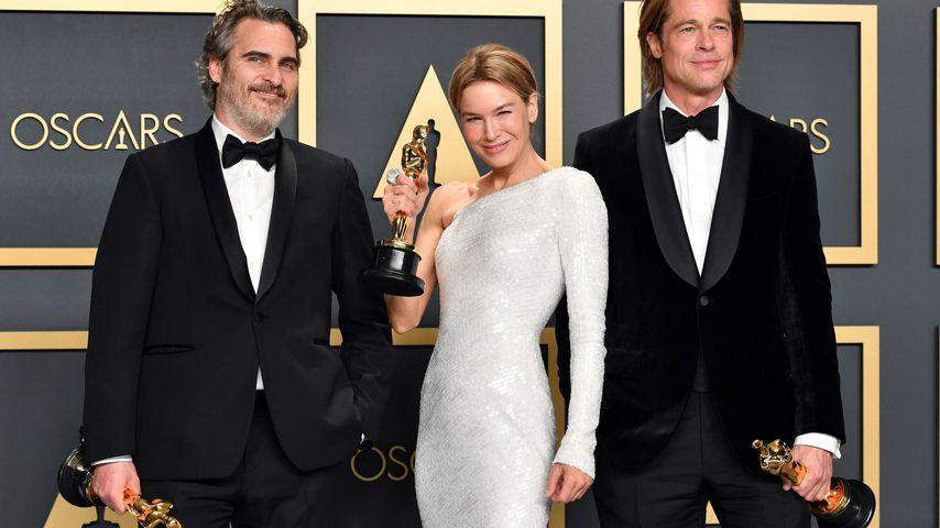 Joaquin Phoenix, Renée Zellweger und Brad Pitt, Oscar-Gewinner 2020