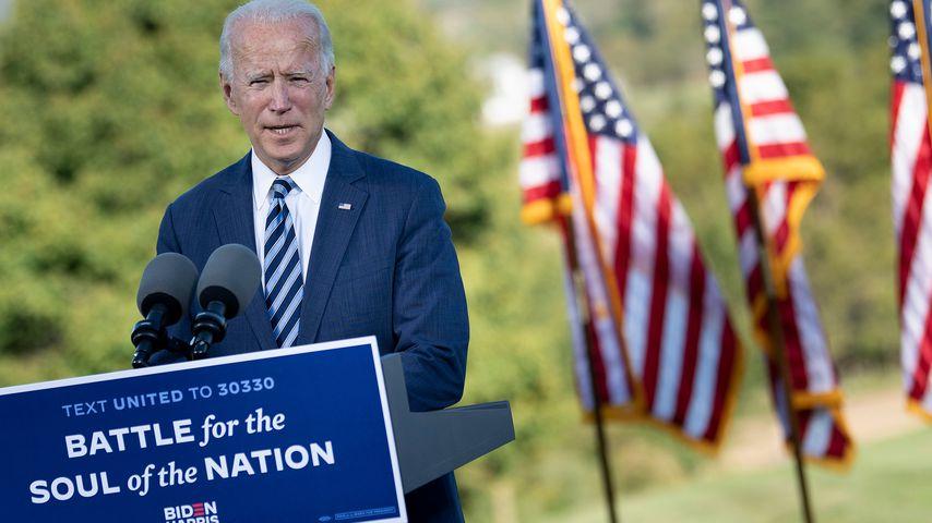 Joe Biden bei einem Wahlkampfevent in der US-Stadt Gettysburg im Oktober 2020