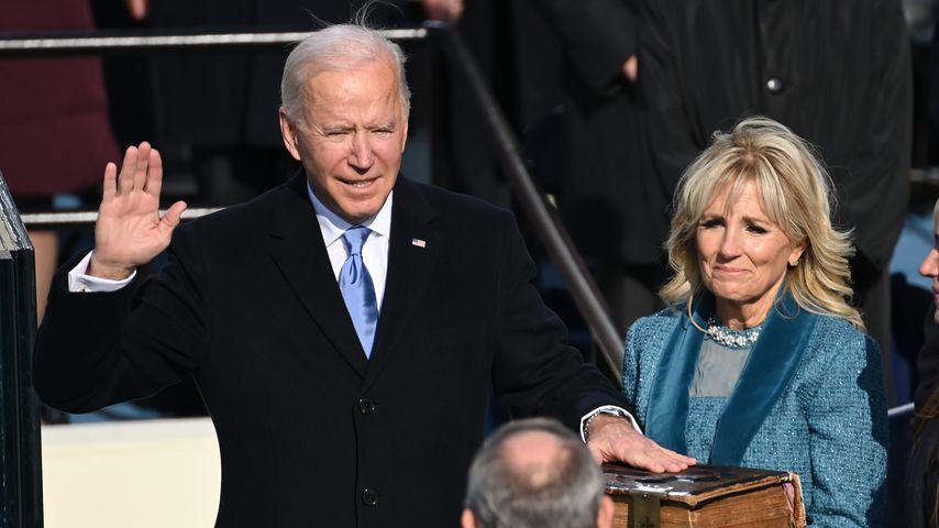 Joe und Jill Biden bei Joe Bidens Vereidigung