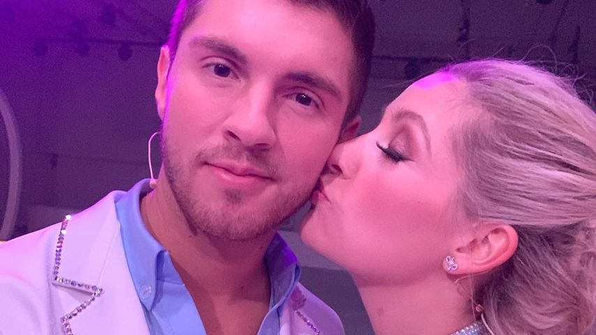 "Joey Heindle und Ramona Elsener bei ""Dancing on Ice"""
