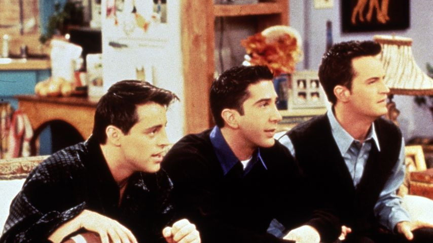 "Joey, Ross und Chandler in der Sitcom ""Friends"""