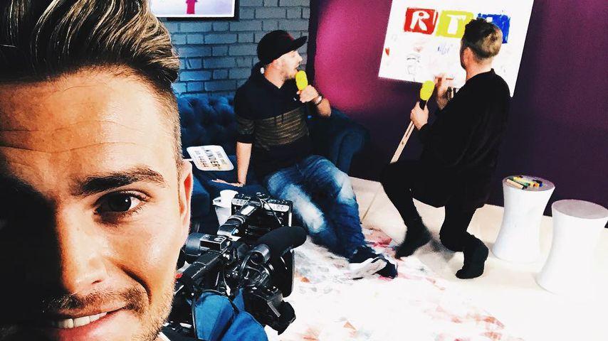 Johannes Haller und Nico Schwanz beim RTL-Spendenmarathon 2017