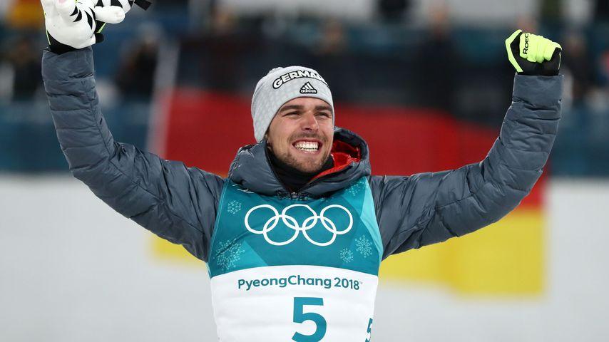Johannes Rydzek, nordischer Kombinierer nach seinem Olympiasieg 2018