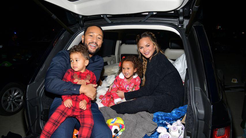 John Legend, Chrissy Teigen und ihre beiden gemeinsamen Kinder