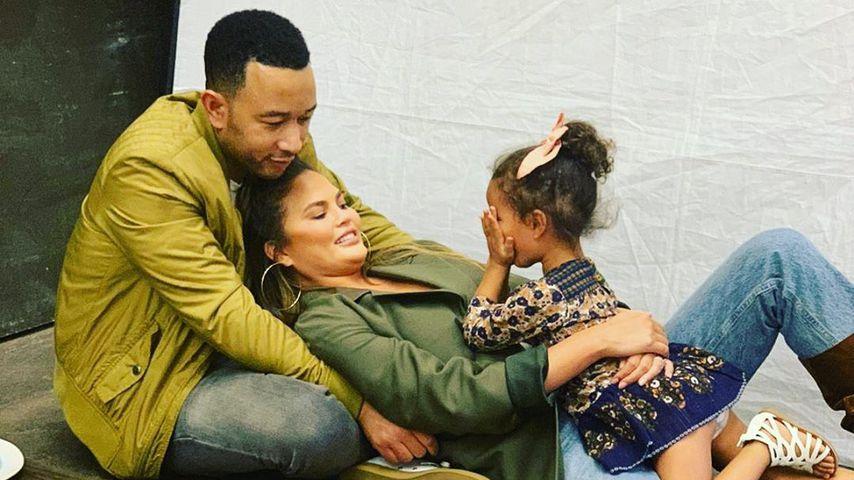John Legend, Chrissy Teigen und Tochter Luna