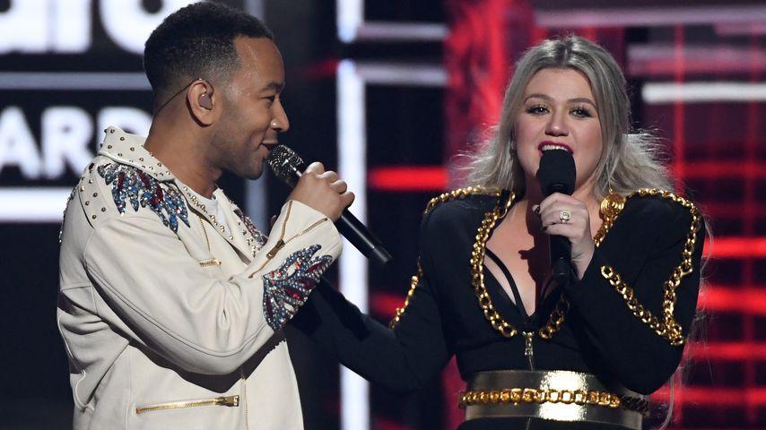 John Legend und Kelly Clarkson bei den Billboard Music Awards 2018