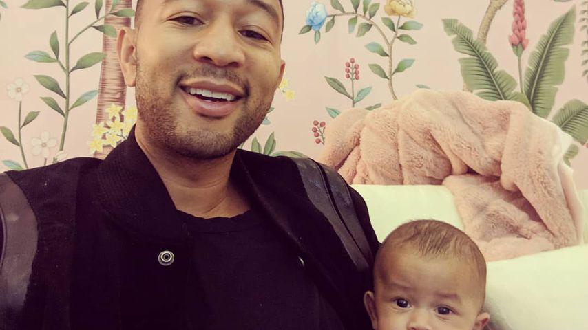 John Legend und sein Sohn Miles