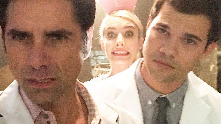 John Stamos: Drehspaß mit Taylor Lautner & Emma Roberts