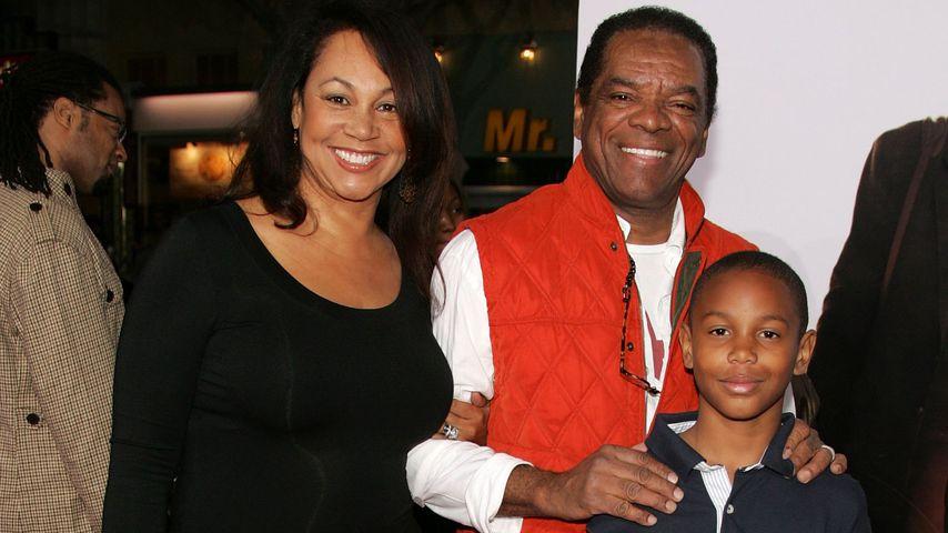 John Witherspoon mit seiner Frau Angela und seinem Sohn, 2006