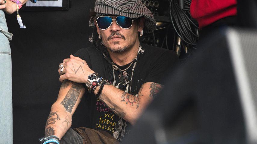 Johnny Depp beim Glastonbury Festival 2017