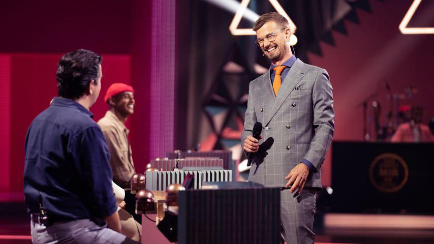 """Bastian Pastewka, Teddy Teclebrhan und Joko Winterscheidt bei """"Wer stiehlt mir die Show?"""""""