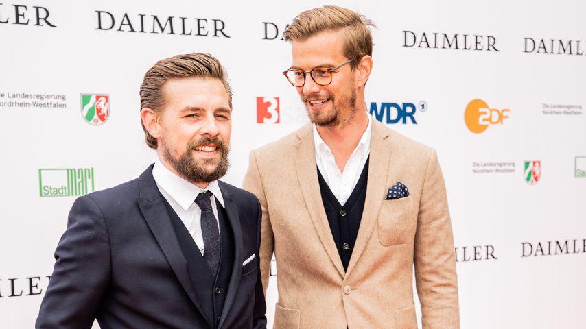 Joko Winterscheidt und Klaas-Heufer Umlauf im April 2018 in Marl